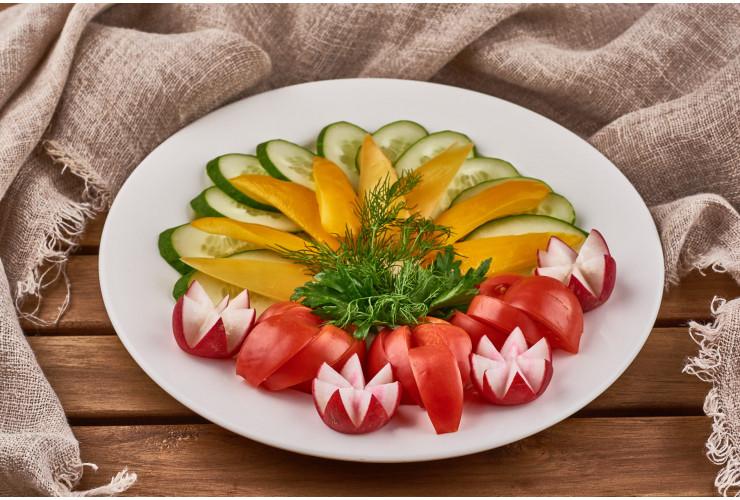 Хрустящие свежие овощи