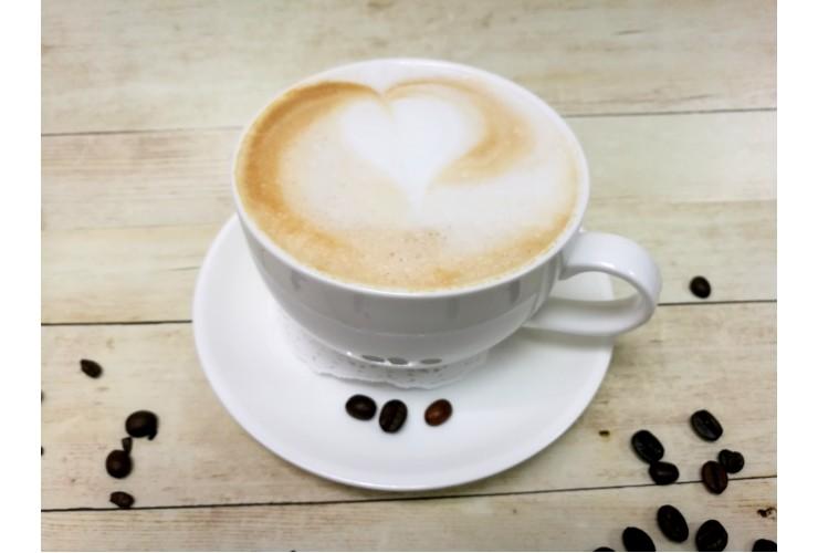 Кофе капучино с маршмеллоу