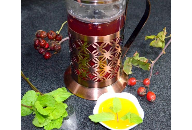 Фирменный чай малина с мятой