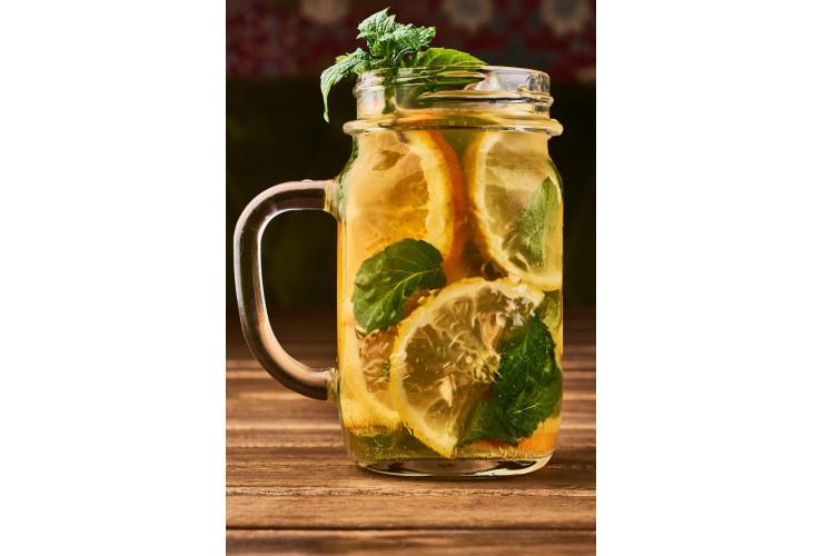 Лимонад мятно-имбирный